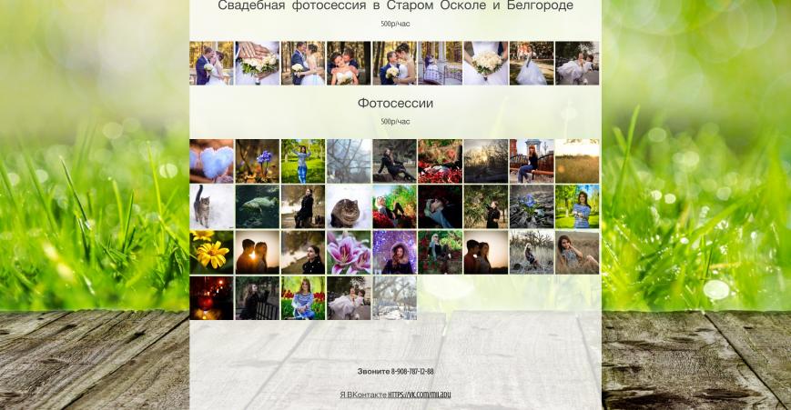 разработка сайта фотографа в Старом Осколе